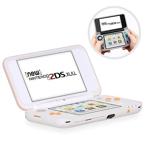 HEYSTOP Funda Protectora para Nintendo New 2DS XL, Funda Antideslizante de Silicona para Consolas New 2DSXL con Comodida al agarrar la Consola-Blanco