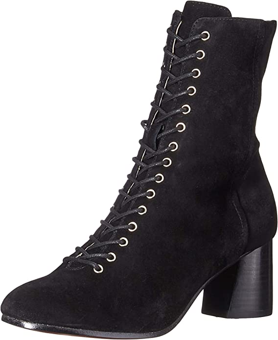 lace-up ankle boot and black color boots