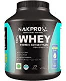 Nakpro Instantised Grass Fed & Raw 100 % Whey Protein Concentrate Powder - 1Kg(Unflavored)