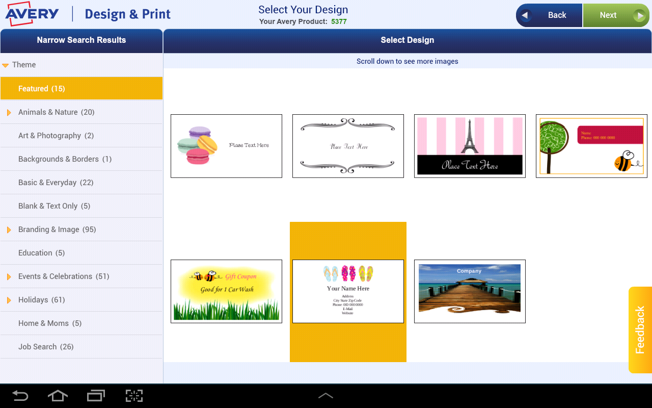 Amazon Avery Design Print Appstore For Android
