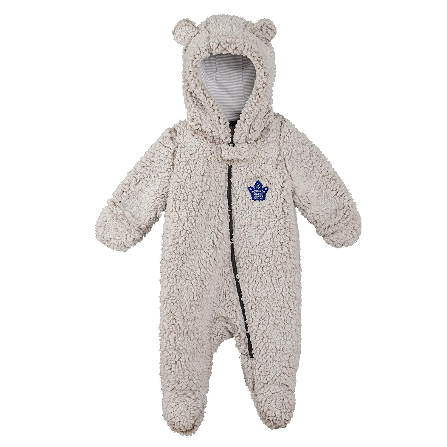 OuterStuff Toronto Maple Leafs Newborn Game Nap Teddy Fleece Bunting Pram