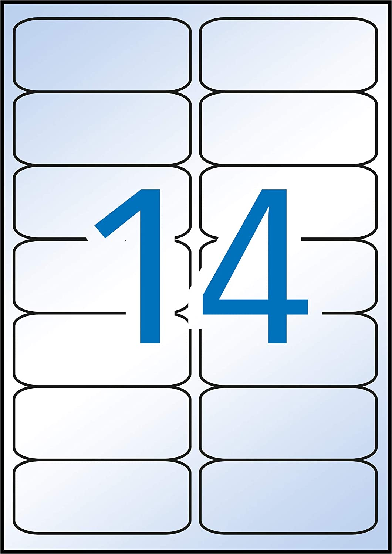 APLI 12113 - Etiquetas blancas resistentes intemperie 99,1 x 38,1 ...