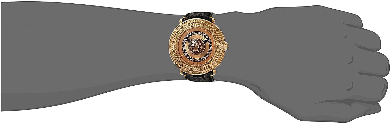 Versace Men s VQL020015 V-Metal Icon Analog Display Swiss Quartz Black Watch