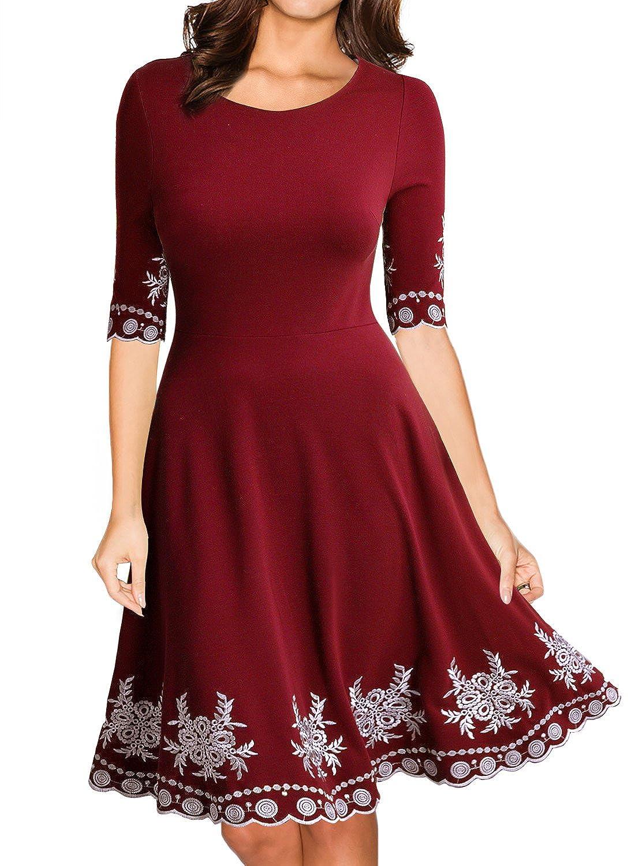 MIUSOL Damen Abendklei Sommer Kurz vintage Rockabilly Kleid Cocktail ...