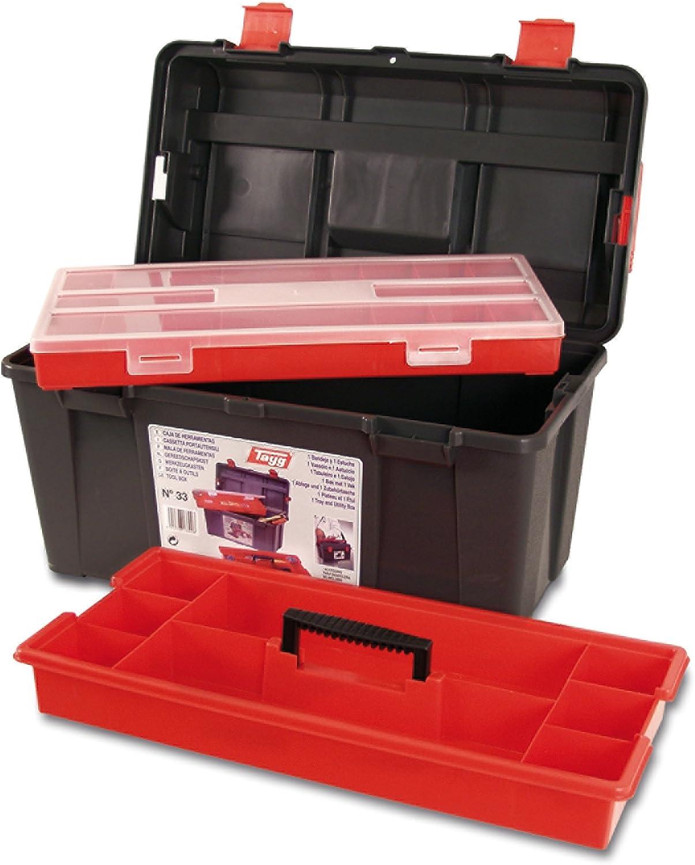 Tayg 133008 Caja Herramientas Plástico, Negro, 480 x 258 x 255 mm ...