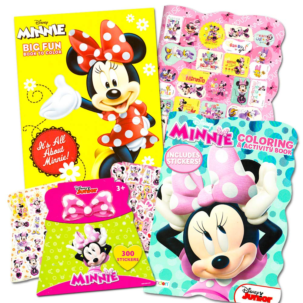 - Disney Minnie Mouse Coloring Book Set With Stickers — 2 Deluxe