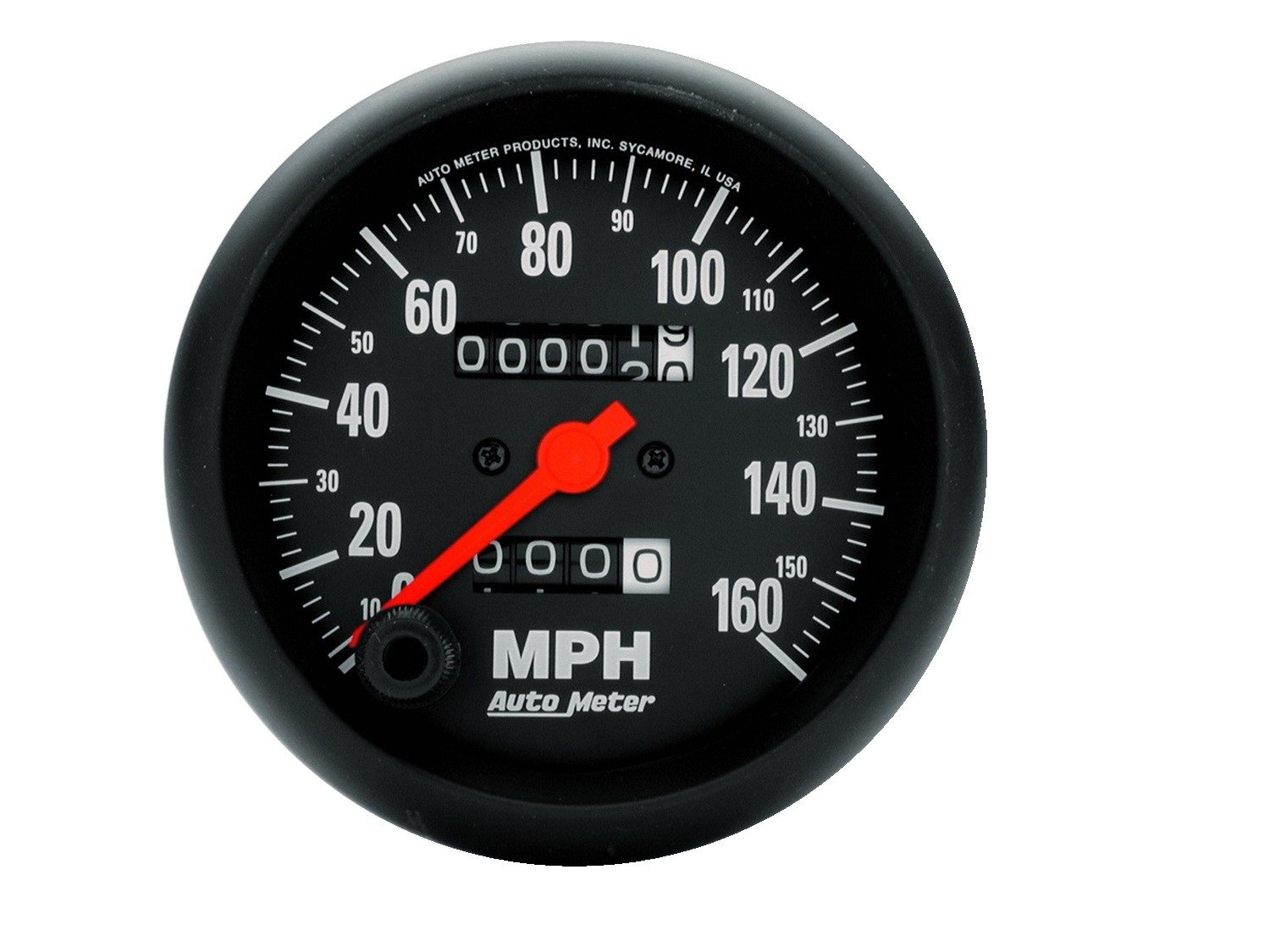 Auto Meter 2694 3-3//8 Z-Series 160 mph In-Dash Mechanical Speedometer with Trip