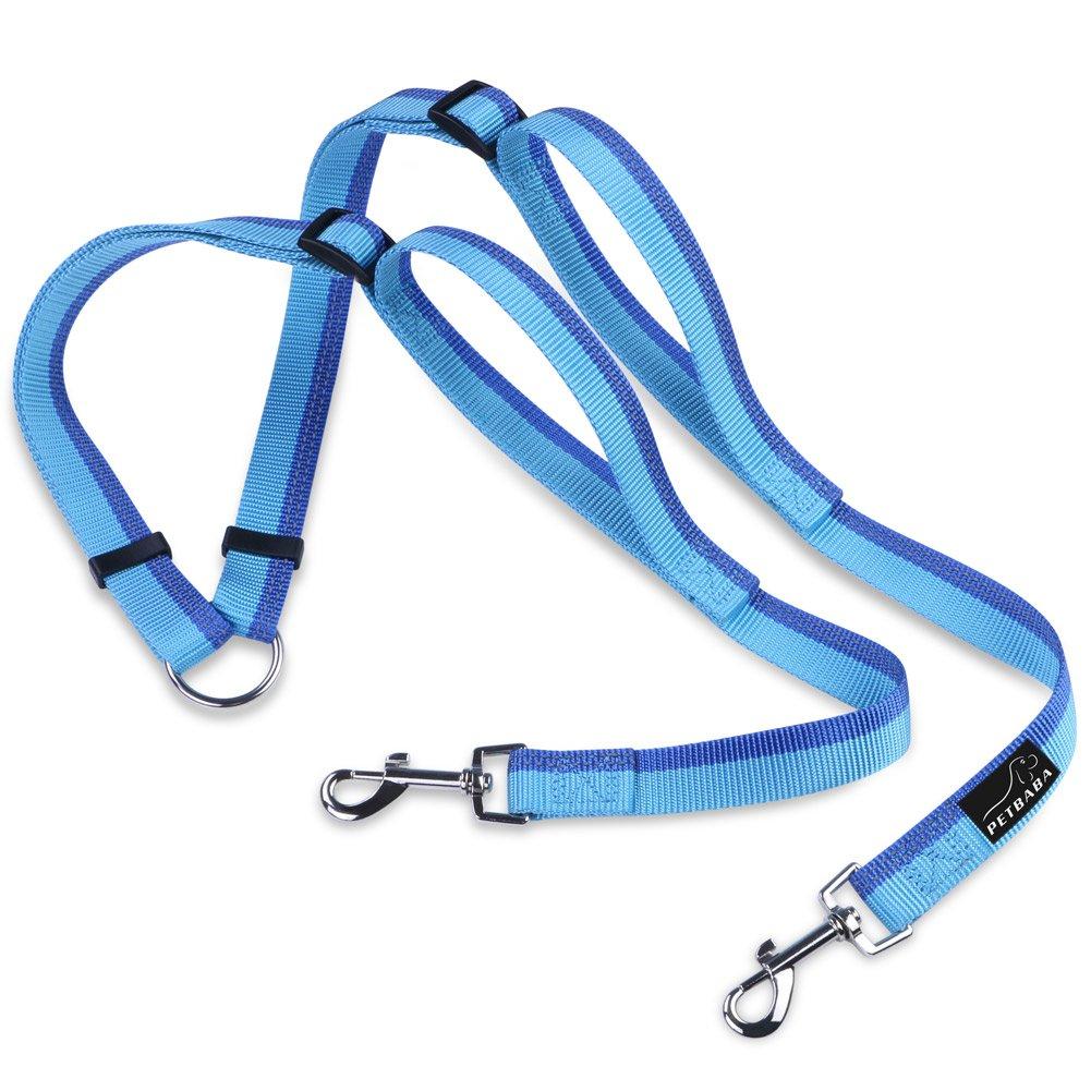 PETBABA Hundeleine Doppelleine, Reflektierend Nylon Training Hunde Leine für Hunde