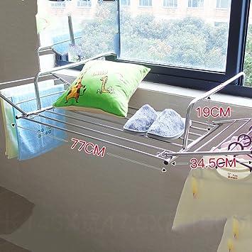 Suixinsuoyu Edelstahl Kleidung Waschestander Fenster Balkon Zaun