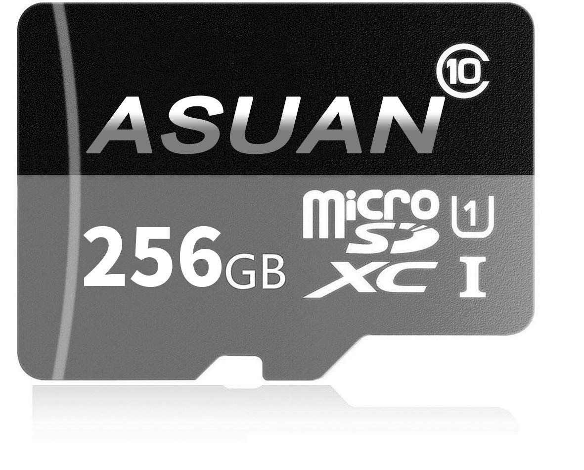 ASUAN 256GB Micro SD Memory Card High Speed Class 10 Micro SD SDXC Card with SD Adapter