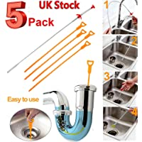 5Pcs Drain Snake Hair Remover with Clog Remover Cleaning Tool Kit for Kitchen Sink Bathtub Shower