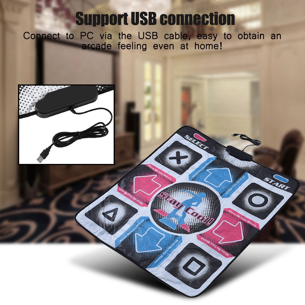 Yoidesu USB Dance Pad Non-Slip Wear-Resistant Durable Dance Mat for Bodybuilding and Fitness Dancing Blanket Dancing Step Pads to PC with USB by Yoidesu (Image #4)