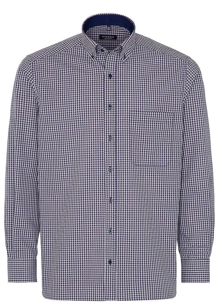 Eterna - Camisa Casual - Cuadros - con Botones - Manga Larga - para Hombre