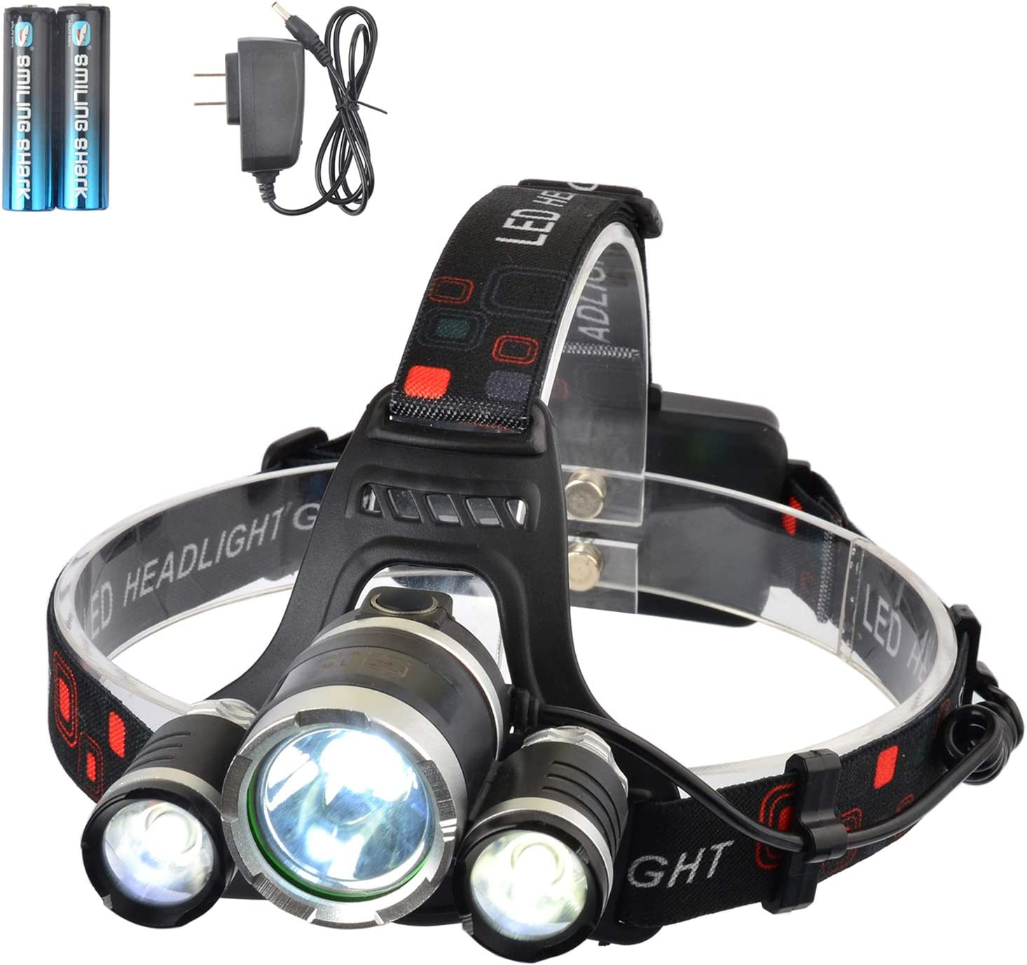 USB Rechargeable LED Headlamp Head Torch Flashlight Bright Headlight Work Lights