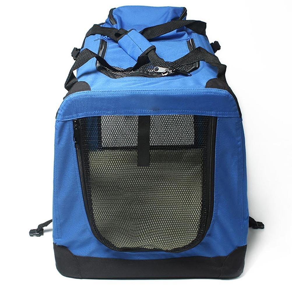 D&F Trasportini Pieghevoli per Cane Cane Cane Gatto Cuccia Gabbia Borsa Morbido per Trasporto Viaggio Oxford Resistente, m- medium Dimensioned 715353, blu dc21cc