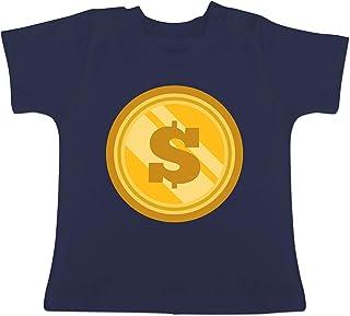 Karneval und Fasching Baby - Münze Kostüm - Baby T-Shirt Kurzarm