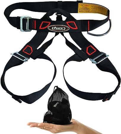 Arnés de escalada, cinturones Alisable seguro para montañismo turbopropulsor banda bomberos trabajando en la mayor escalada espeleología rappel Equip, ...