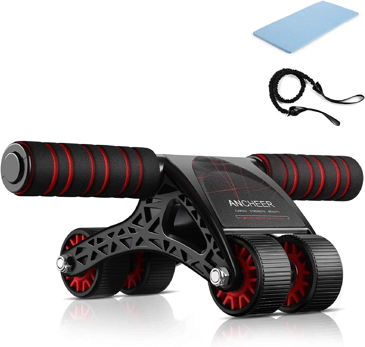 Abdominal Roller Workout Exercise Black~ Ancheer AB Power Wheel Roller for Abs