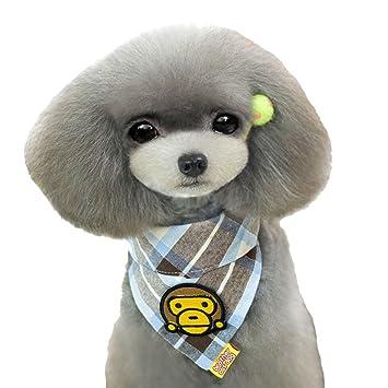 enjoymore Lovely Cartoon Mono Patrón Animal toalla de la saliva de perro baberos Triángulo Pañuelo para la cabeza: Amazon.es: Productos para mascotas