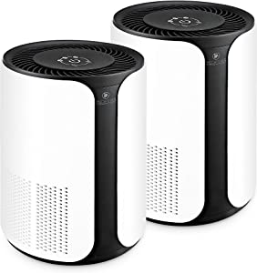 Medify MA-18 Medical Grade H13 True HEPA Filtration Air Purifier for 400 Sq. Ft. (99.97%) | Allergies, Dust, Pollen. Perfect for Office, Bedrooms, Dorms or Baby Nurseries - White (2-Pack)