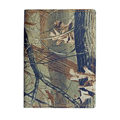 Passport Wallet - Full Grain Cowhide - USA Made (Full Real Tree Hardwoods