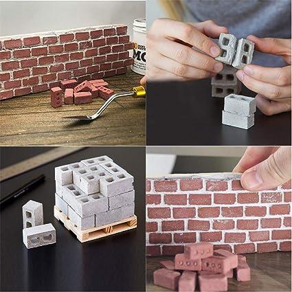 TEIFOC CONSTRUCTION REAL BRICKS /& MATERIALS KIDS TOYS GAMES SMALL GARDEN PLANTER
