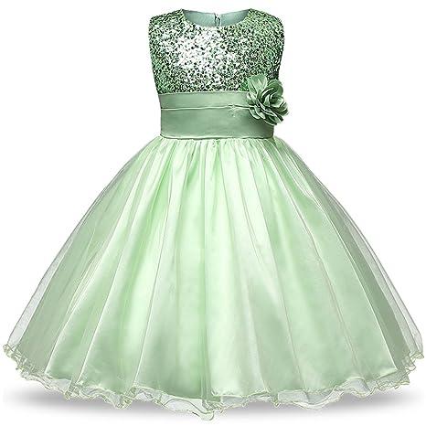 7d285268a Amazon.com: 0-12 Age Flower Girl Tutu Dresses for Weddings Elegant Gown  Baby Designer Kids Sequins Party Girl Children Flower Dresses,As  Photo4,24M: Kitchen ...