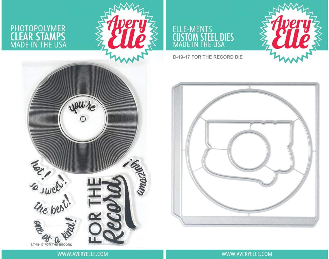 Avery Elle - for The Record - Clear Stamps and Die Set