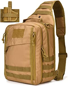 Tactical Sling Bag Pack Small Military Sling Backpack Assault Range Bag