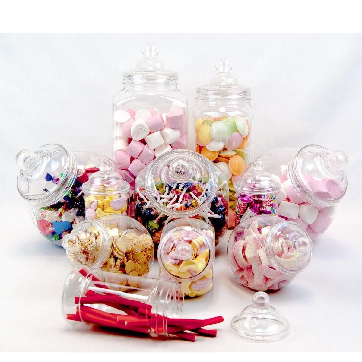 Plastic Jar Party Pack-11 Assorted Jars by jars2u