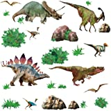 RoomMates Repositionable Childrens Wall Stickers Dinosaur