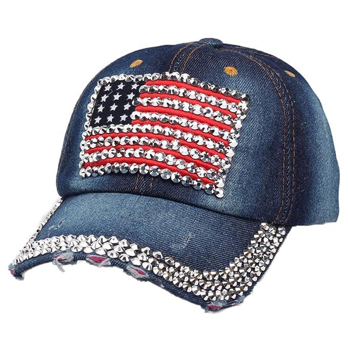 URIBAKY, Ajustable del Gorras de béisbol Gorra de Trucker Sombrero de Baseball Cap Distressed Denim Trucker Cap: Amazon.es: Ropa y accesorios