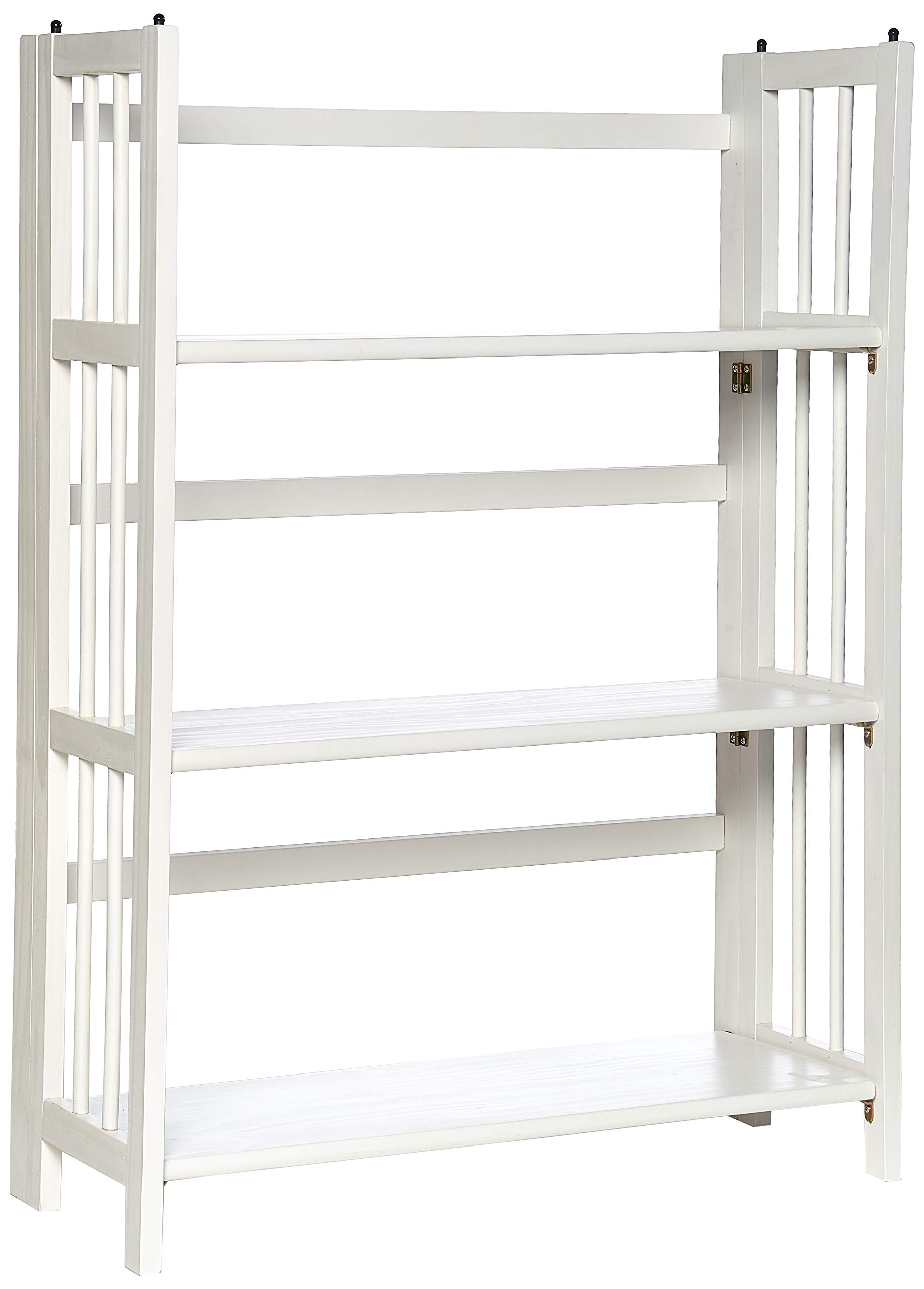 Yu Shan 3 Shelf Folding Stackable Bookcase, White