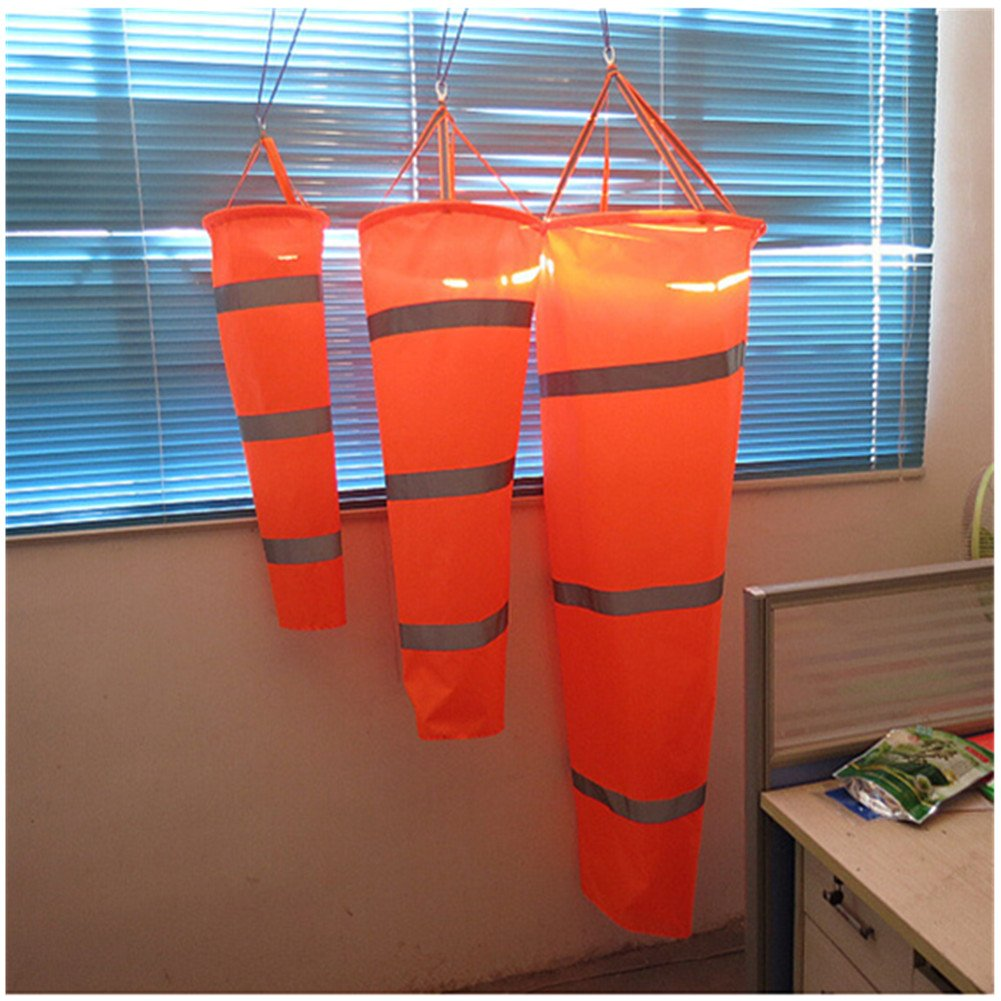 Toshow 31.49 - 59.05 Airport Windsock Rip-stop Outdoor Wind Measurement Sock Bag + Reflective Belt (100cm / 39.37inch)
