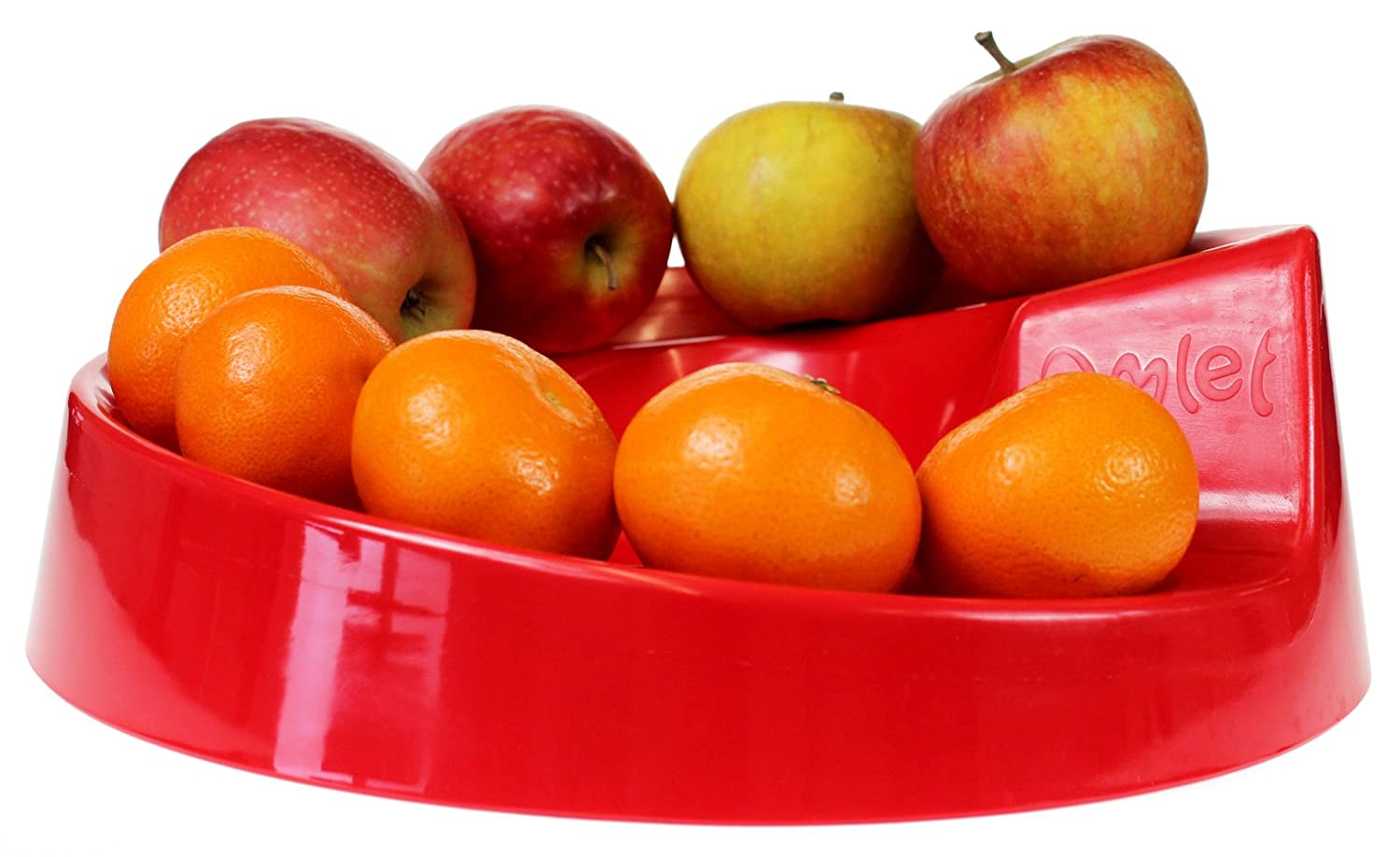 Omlet Rollabowl - Fun Spiral Fruit Bowl - Red