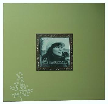 Pioneer 12 X 12 Scrapbook Album Olive Green With Leaf Logo Amazon