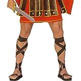 Sandales de Romain centurion sandales de gladiateur brun sandales romaines gladiateurs sandale Romains chaussures déguisement accessoire