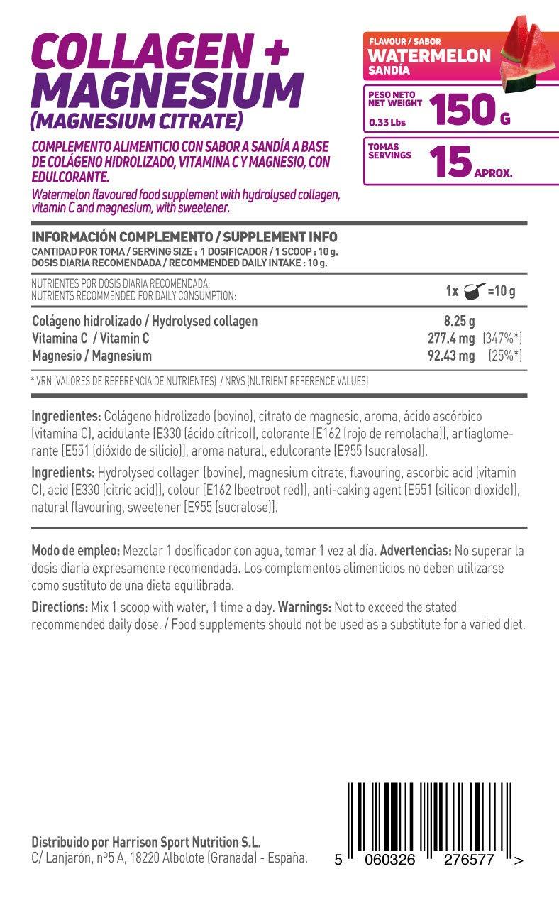 HSN Essentials - Colágeno Hidrolizado + Magnesio 2.0 - Sabor Sandía - En Polvo 150 g: Amazon.es: Alimentación y bebidas