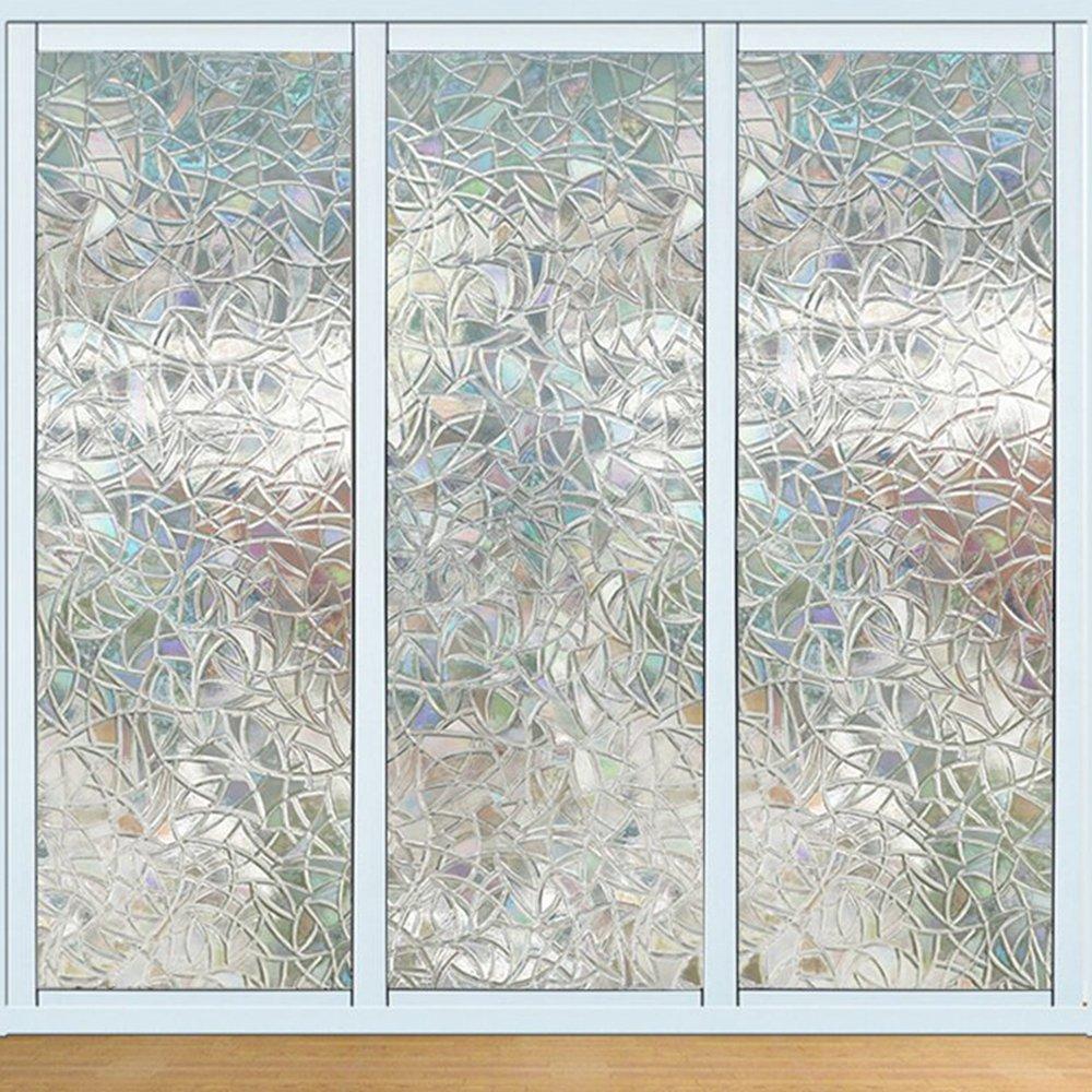 Jirvyuk 3D Fensterfolie Fensterschutzfolie Dekorfolie