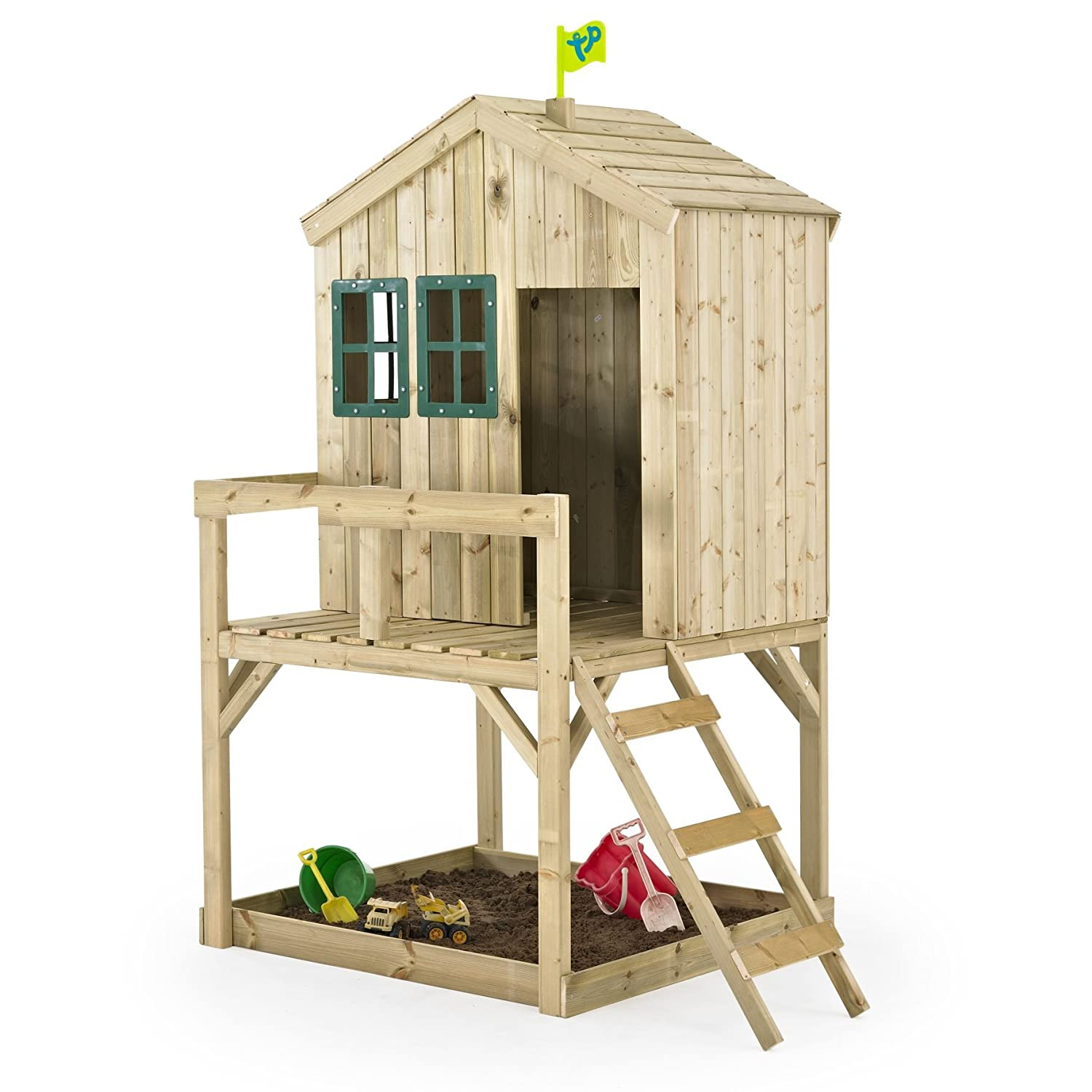Casita Infantil de Madera Outdoor Toys Forest Cottage: Amazon.es: Juguetes y juegos