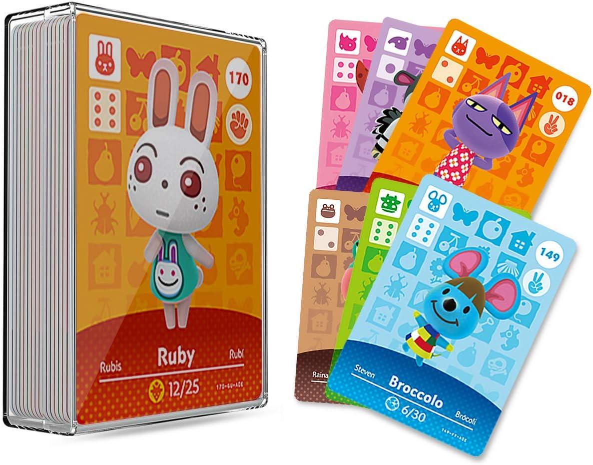 30 개 ACNH NFC TAG 미니 게임을 희소자의 주민을위한 카드의 새로운 지평 동물이 교차하는 게임 카드 스위치   라이트 스위치   WII U 으로 저장 케이스
