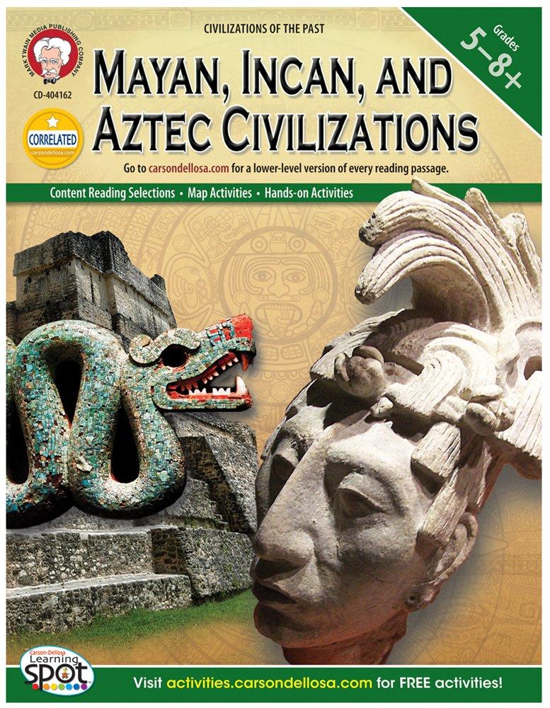 Mayan, Incan, and Aztec Civilizations, Grades 5 - 8 (World History) by CARSON DELLOSA