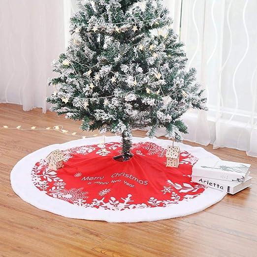 Falda de árbol de Navidad Alfombra de felpa 49 pulgadas (122 cm ...