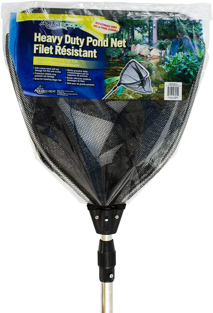Aquascape 98560 Heavy-Duty Pond and Fish Net, Extendable Handle, Silver