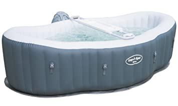 Lay Z Spa Hot Tub Siena Airjet Inflatable Spa 1 2 Person Amazon