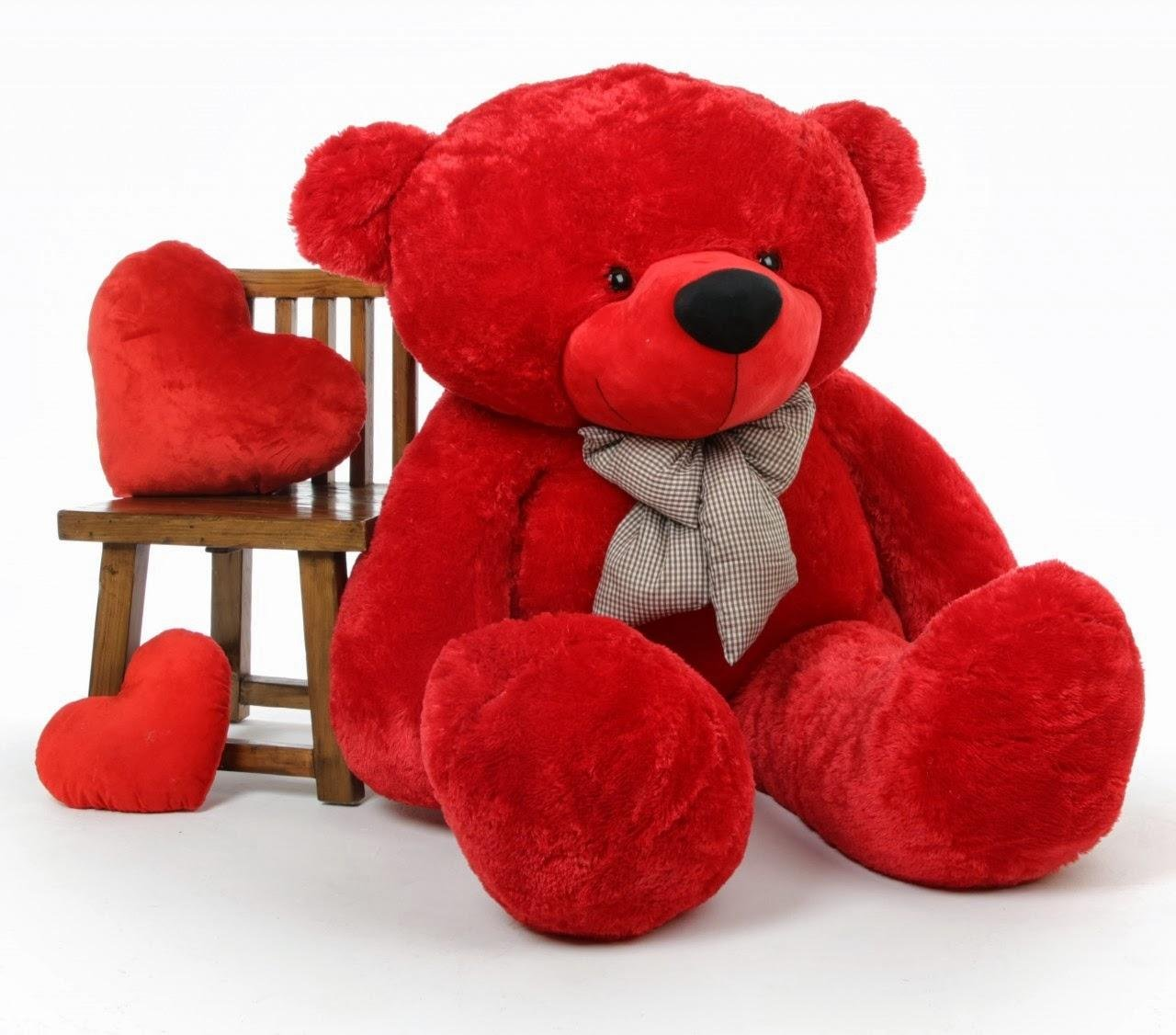 Cute Teddy Bear with Neck Bow for Girlfriend
