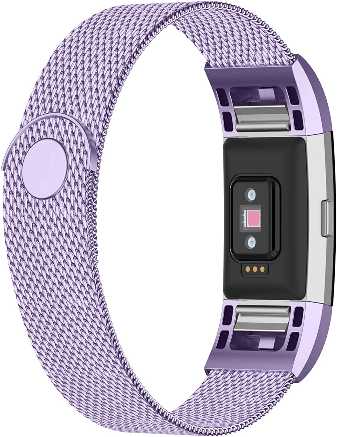 iGK Replacement Bands Compatible for Fitbit Charge 2, Stainless Steel Metal Bracelet with Unique Magnet Clasp