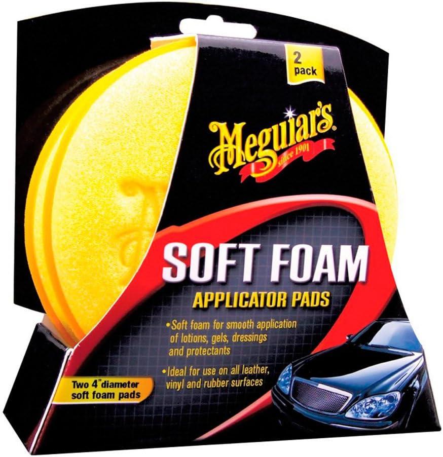 Meguiar S X3070 Soft Foam Applicator Pads Auftragsschwamm 2 Er Pack Auto