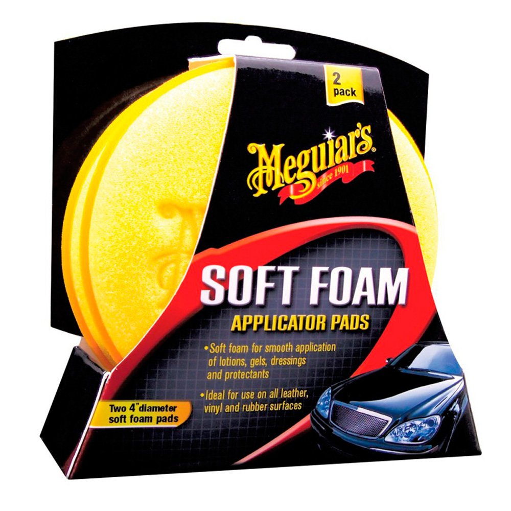 Meguiar's X3070 Soft Foam 4' Applicator Pads - (Pack of 2) Meguiar' s