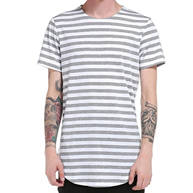 HUIHUI Oversize Vintage Herren T-Shirt Longsleeve Kurzarm Shirt Herren Slim  Fit Top Baumwolle O e633628590